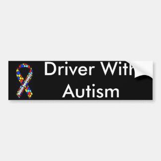 Conductor con autismo pegatina para auto