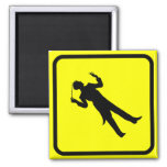 Conductor Crossing 2 Inch Square Magnet