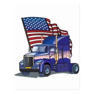 Conductor de camión de los E.E.U.U. Postales