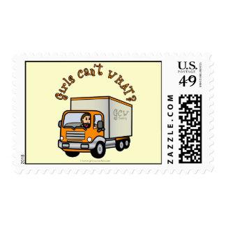 Conductor de camión de sexo femenino ligero sello