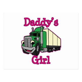 Conductor de camión del chica del papá postal