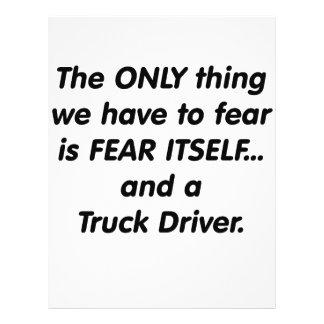 Conductor de camión del miedo flyer personalizado