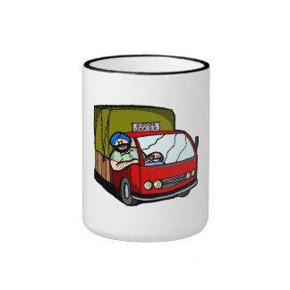 Conductor de camión taza a dos colores