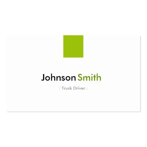 Conductor de camión - verde menta simple tarjetas de visita