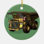 Conductor de camión volquete gigante de Papá Noel Ornamento De Reyes Magos