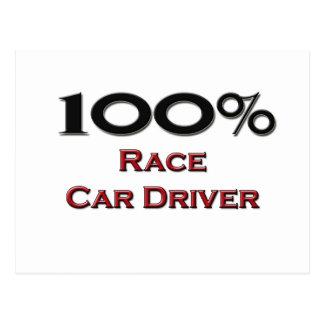 Conductor de coche de carreras del 100 por ciento tarjeta postal