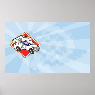 Conductor de la ambulancia del paramédico EMT Impresiones