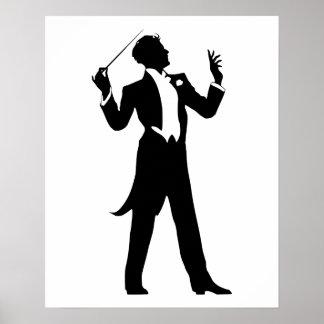 Conductor de la banda póster