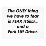 conductor de la carretilla elevadora del miedo invitaciones personalizada