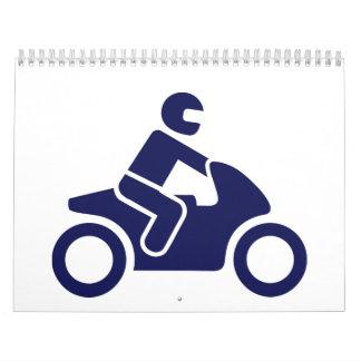 Conductor de motocicleta calendario de pared
