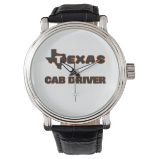 Conductor de taxi de Tejas Relojes De Pulsera