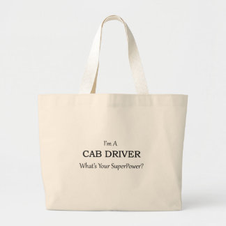Conductor de taxi estupendo bolsa tela grande