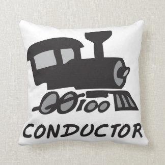 Conductor de tren cojin