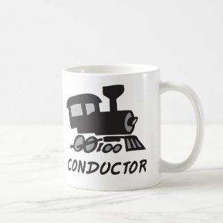 Conductor de tren taza de café