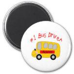 Conductor del autobús #1 iman de frigorífico