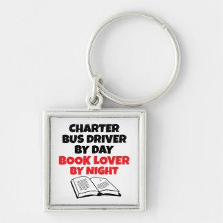 Conductor del autobús de la carta del aficionado a llavero cuadrado plateado
