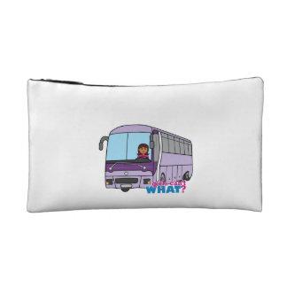 Conductor del autobús de la mujer