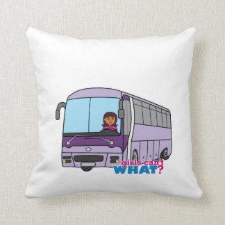 Conductor del autobús de la mujer cojín