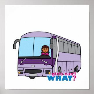 Conductor del autobús de la mujer póster