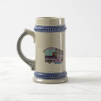 Conductor del autobús de la mujer tazas