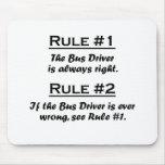 Conductor del autobús de la regla tapetes de ratones