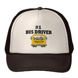 Conductor del autobús del número uno gorros