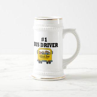 Conductor del autobús del número uno taza de café