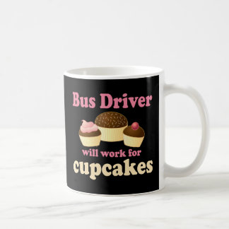 Conductor del autobús divertido taza
