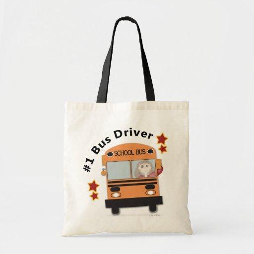 Conductor del autobús escolar #1 bolsa tela barata