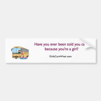 Conductor del autobús escolar pegatina de parachoque