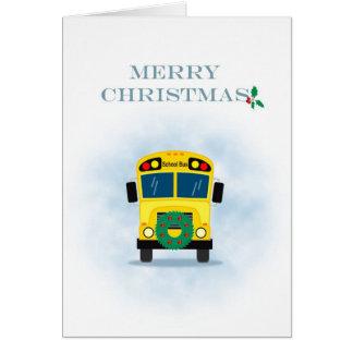 Conductor del autobús escolar de las Felices Navid Tarjetas