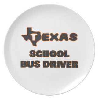 Conductor del autobús escolar de Tejas Plato