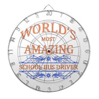 Conductor del autobús escolar tablero de dardos