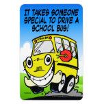 Conductor del autobús escolar iman de vinilo