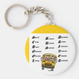 Conductor del autobús escolar llavero