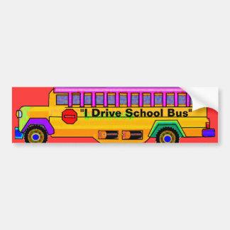 """""""Conductor del autobús escolar """" Pegatina Para Auto"""