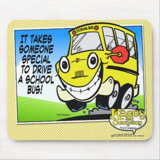 Conductor del autobús escolar alfombrillas de raton