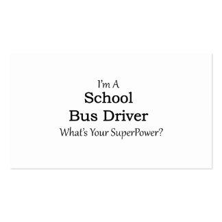 Conductor del autobús escolar tarjetas de visita