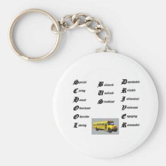 Conductor del autobús escolar thumbnailCAI0UE1U Llaveros Personalizados
