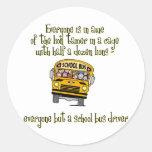Conductor del autobús etiquetas