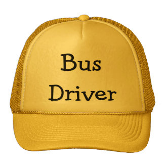 Conductor del autobús gorras