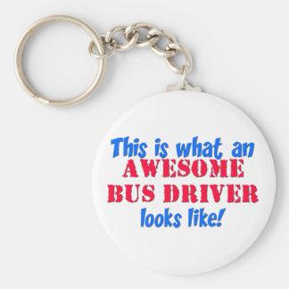 Conductor del autobús impresionante llaveros personalizados
