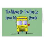 """Conductor del autobús """"las ruedas en el autobús """" tarjetas"""