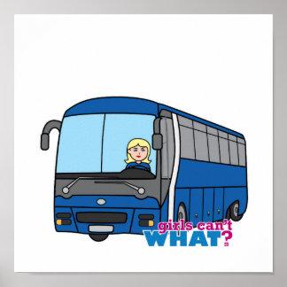 Conductor del autobús - luz/Blonde Póster