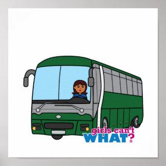 Conductor del autobús - oscuridad póster