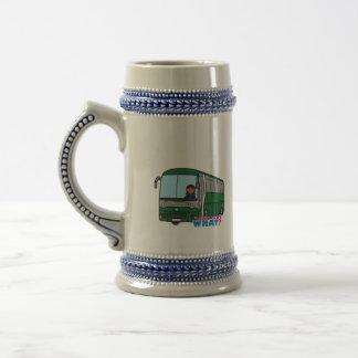 Conductor del autobús - oscuridad tazas de café