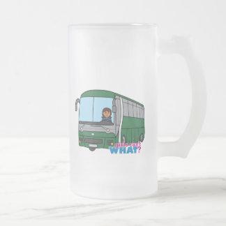 Conductor del autobús - oscuridad taza de cristal