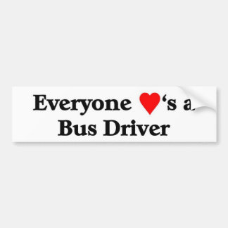 Conductor del autobús pegatina para auto