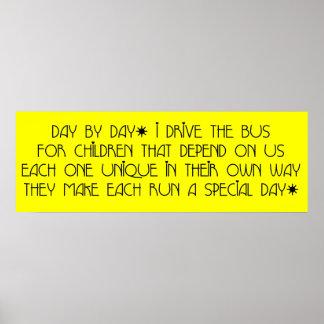 Conductor del autobús - poster del poema del día d