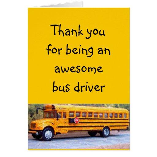 Conductor del autobús tarjeta de felicitación